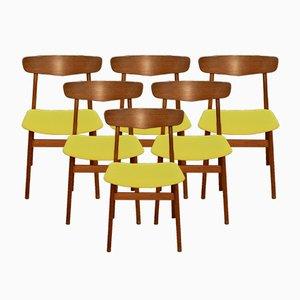 Dänische Mid-Century Esszimmerstühle von Farstrup Møbler, 1960er, 6er Set