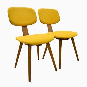 Yellow Fameg 5827 Chairs, 1950s, Set of 2