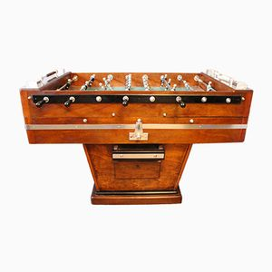 Walnut & Aluminum Foosball Table, 1920s