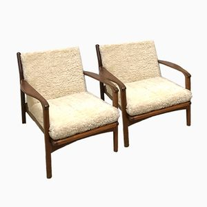 Afromosia Armchairs from Toothill, 1960s, Set of 2