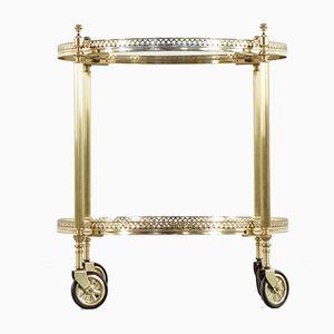 German Hollywood Regency Brass Serving Cart, 1960s