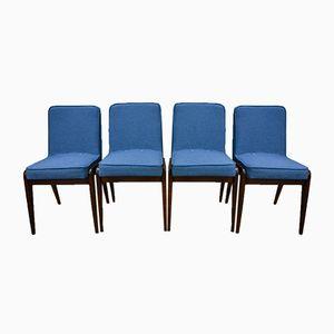 Hellblaue Aga Esszimmerstühle von Józef Marian Chierowski, 1960er