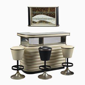 Italienische Cocktail Bar mit Hockern von Umberto Mascagni, 1950er