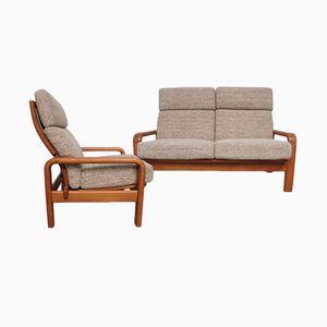 Scandinavian Living Room Set, 1960s, Set of 2