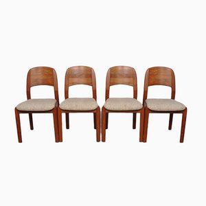 Dänische Teak Esszimmerstühle von Dyrlund, 1960er, 4er Set