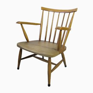 Vintage Scandinavian Spindle Back Easy Chair