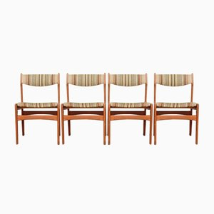 Scandinavian German Dining Chairs, 1960s, Set of 4