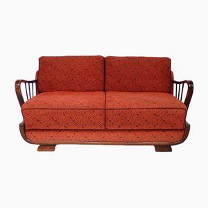 Deutsches Mid-Century Zwei-Sitzer Schlafsofa in Rot