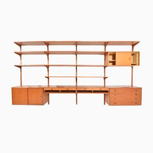 Mid-Century Teak Wall Unit by Rud Thygesen & Johnny Sørensen for HG Furniture