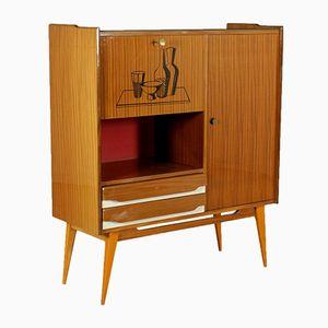 Cupboard in Mahogany Veneer & Formica, 1950s