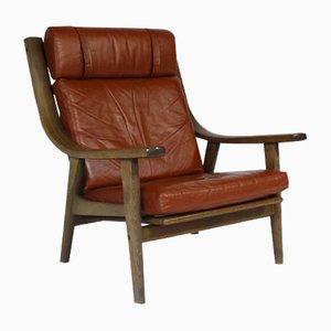 Dänischer GE 530 Vintage Sessel mit Hoher Rückenlehne von Hans J. Wegner für Getama