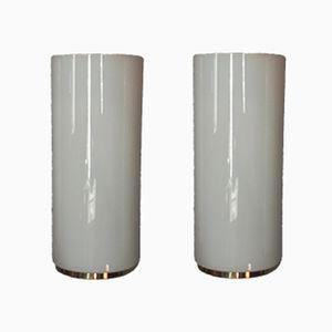 Lampade da parete in vetro di Limburg, anni '80, set di 2