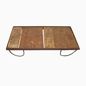 French Vintage Industrial Coffee Table, 1930s