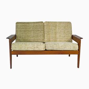 Beiges Dänisches Vintage Teak Sofa von Arne Wahl Iversen für Komfort