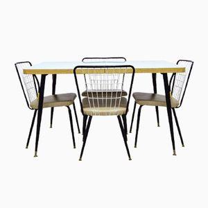 Vintage Esstisch mit Vier Stühlen