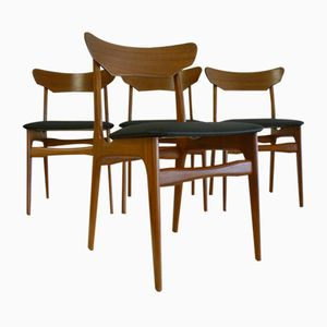 Teak Dining Chairs by Schionning & Elgaard for Randers Møbelfabrik, 1960s, Set of 4