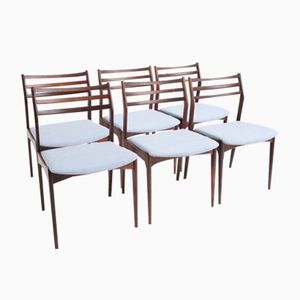 Vintage Rosewood Dining Chairs by Vestervig Eriksen for Brdr. Tromborg, Set of 6