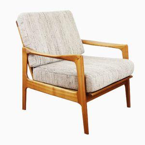 Vintage Scandinavian Solid Wooden Armchair