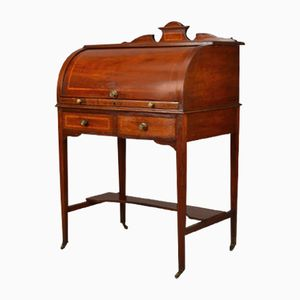 Antique Edwardian Ladies Cylinder Writing Desk