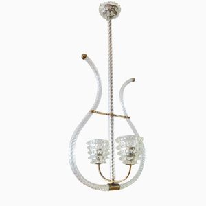 Vintage Italian Pendant Lamp by Barovier & Toso
