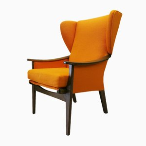 Vintage Orange Armchair from Parker Knoll, 1960s