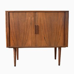 Rosewood Cabinet with Tambour Doors by Kai Kristiansen for FM Møbler, 1960s
