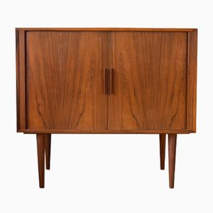 Danish Rosewood Cabinet with Tambour Doors by Kai Kristiansen for FM Møbler, 1960s
