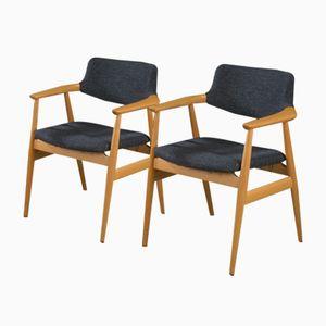 Dänische Mid-Century Armlehnstühle von Svend Åge Eriksen für Glostrup, 1960er, 2er Set