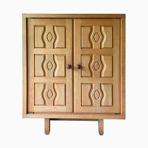 Vintage Oak Cabinet by Guillerme & Chambron for Votre Maison, 1970s