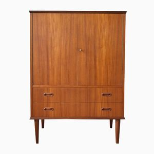 Mid-Century Danish Teak Cabinet with Two Drawers, 1960s