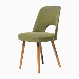 Mid-Century Czech Green Dining Chairs, 1960s, Set of 4