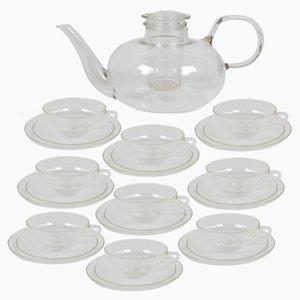 Vintage Klarglas Teeservice von Wilhelm Wagenfeld für Jena