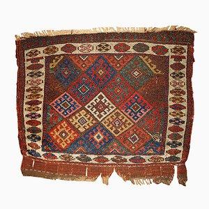 Antique Persian Kurdish Handmade Bagface Rug, 1880s