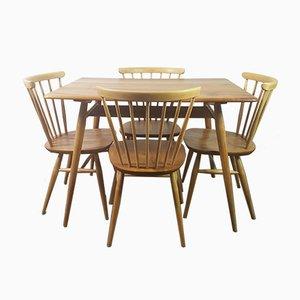 Frühstückstisch und 4 Windsor Bow Top Stühle von Lucian Ercolani für Ercol, 1960er