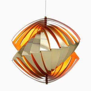 Mid-Century Konkylie Brass Pendant Lamp by Louis Weisdorf for Lyfa