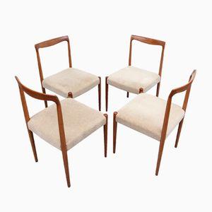 Esszimmerstühle von Lübke, 1960er, 4er Set