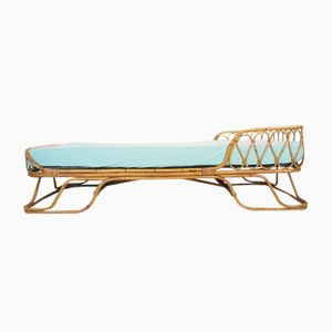 Vintage Mid-Century Rattan Daybed