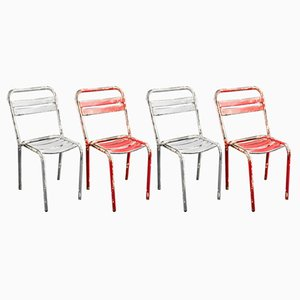 Vintage T2 Garden Chairs by Xavier Pauchard for Tolix, Set of 4
