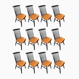 Fanett Chairs by Ilmari Tapiovaara, 1950s, Set of 12