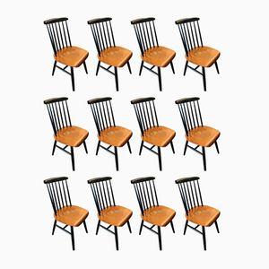 Fanett Stühle von Ilmari Tapiovaara, 1950er, 12er Set
