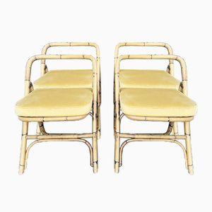 Chaises en Osier, 1960s, Set de 4