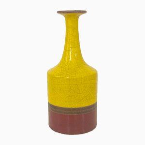 Italienische Glasierte Keramik Vase von Guido Gambone, 1950er