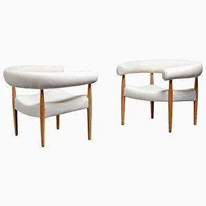 Danish Mid-Century Model 114 Ring Armchairs by Nanna Ditzel for Kolds Savværk, 1958, Set of 2
