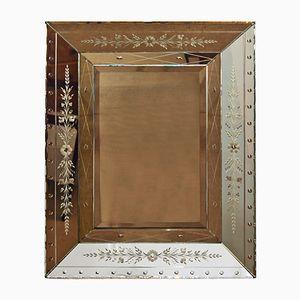 Specchio quadrato con cornice doppia, Belgio, anni '40
