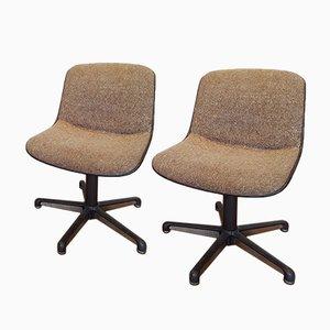 Sedie da ufficio vintage di Charles Pollock per Comforto, set di 2