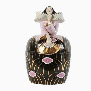 Vintage Black Bonbon Jar from Robj