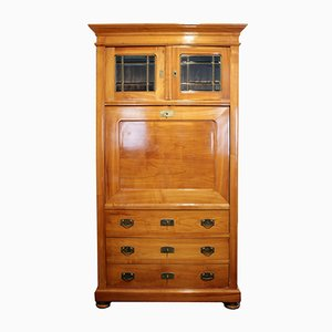 Antique Art Nouveau Secretary in Cherry Wood