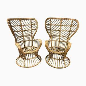 Wicker Armchairs by Gio Ponti and Lio Carminati, 1960s, Set of 2