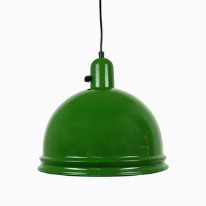 Deutsche Grüne Industrielle Lampe, 1950er