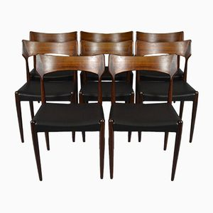 Mid-Century 142 Rosewood Chairs by Bernhard Pedersen & Søn, Set of 8